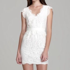 Joie white lace dress